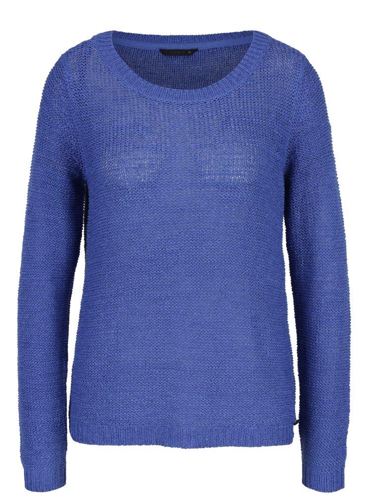 Pulover albastru cu decolteu rotund - ONLY Geena