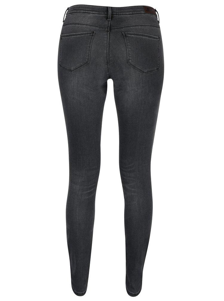Tmavě šedé skinny fit džíny ONLY Carmen