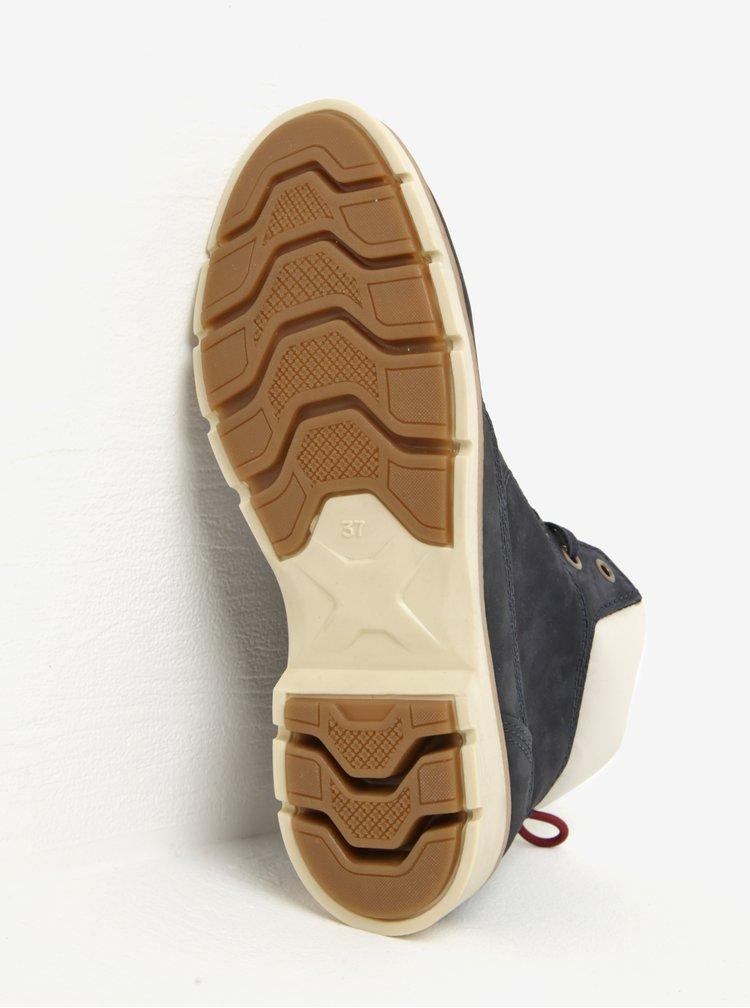 Tmavě modré dámské kožené kotníkové boty Weinbrenner