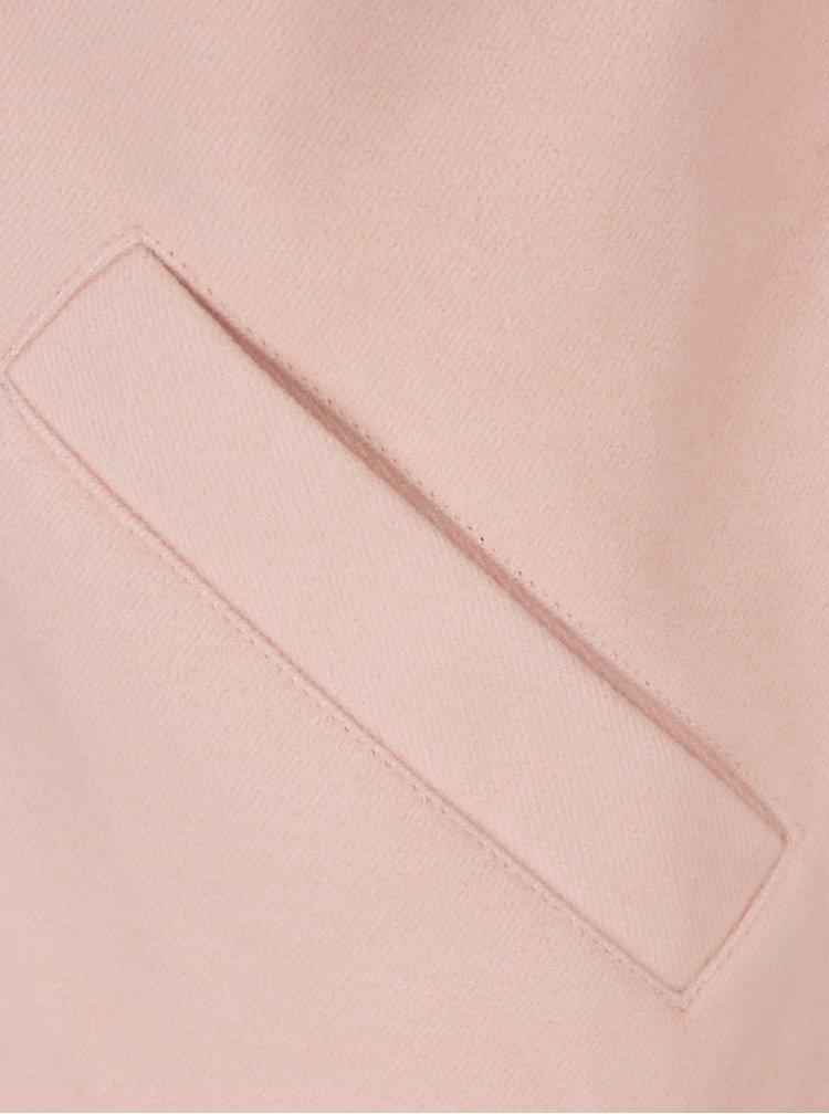 Světle růžový kabát s kapsami TALLY WEiJL