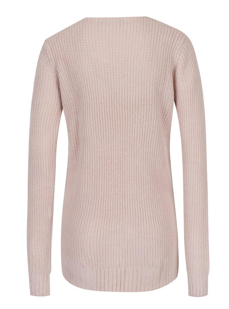 Starorůžový svetr s véčkovým výstřihem TALLY WEiJL