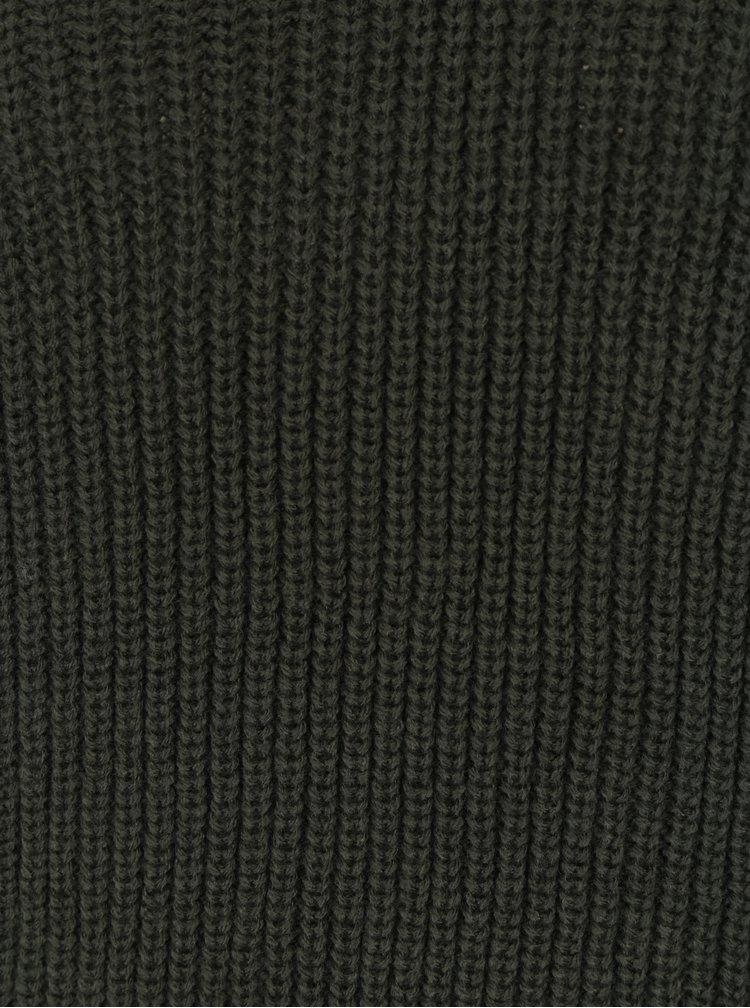 Khaki svetr s véčkovým výstřihem TALLY WEiJL