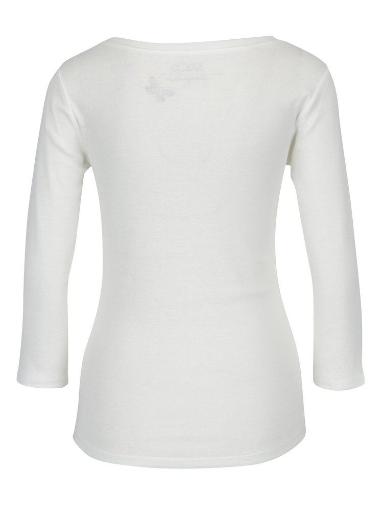 Bluza crem cu maneci 3/4 pentru femei M&Co