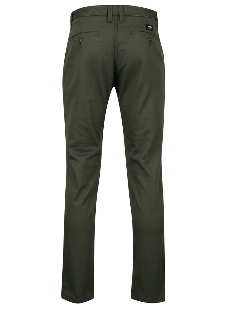Tmavě zelené pánské modern fit chino kalhoty VANS Authentic