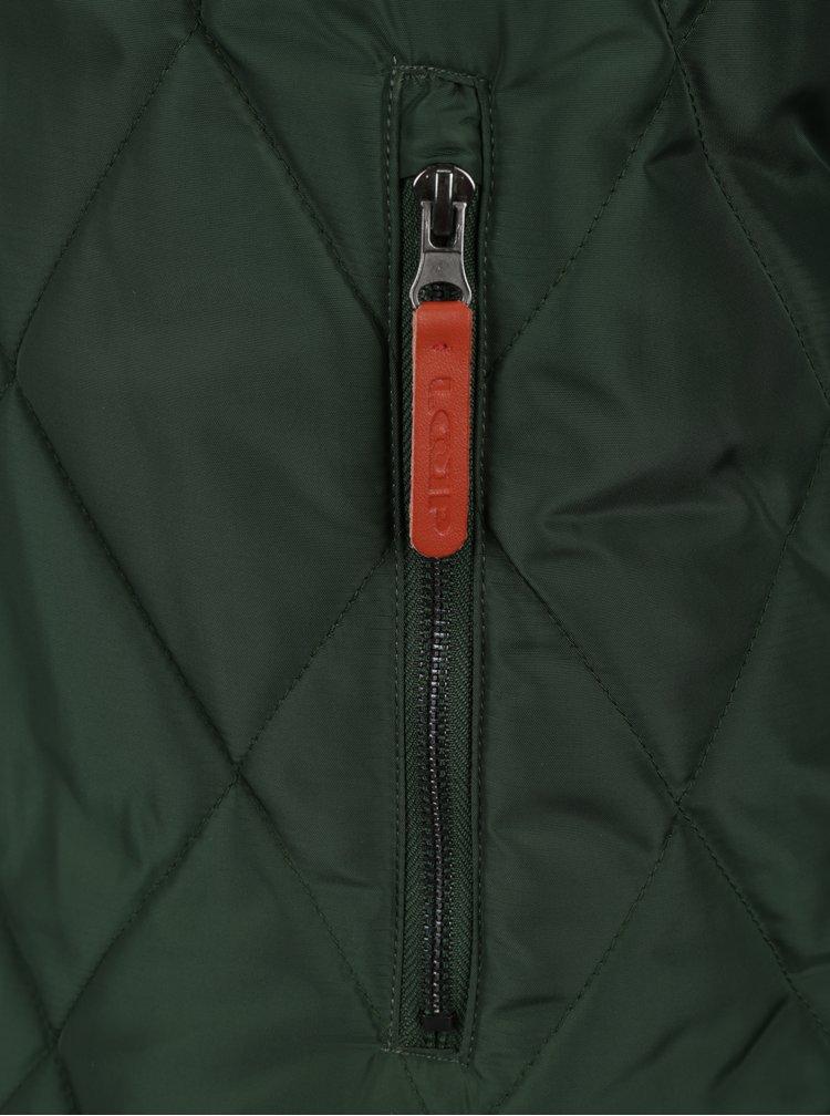 Geaca verde de iarna cu gluga si blana artificiala pentru barbati LOAP Totem