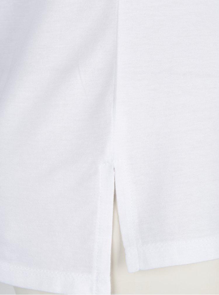 Bílé tričko s náprsní kapsou a potiskem TALLY WEiJL