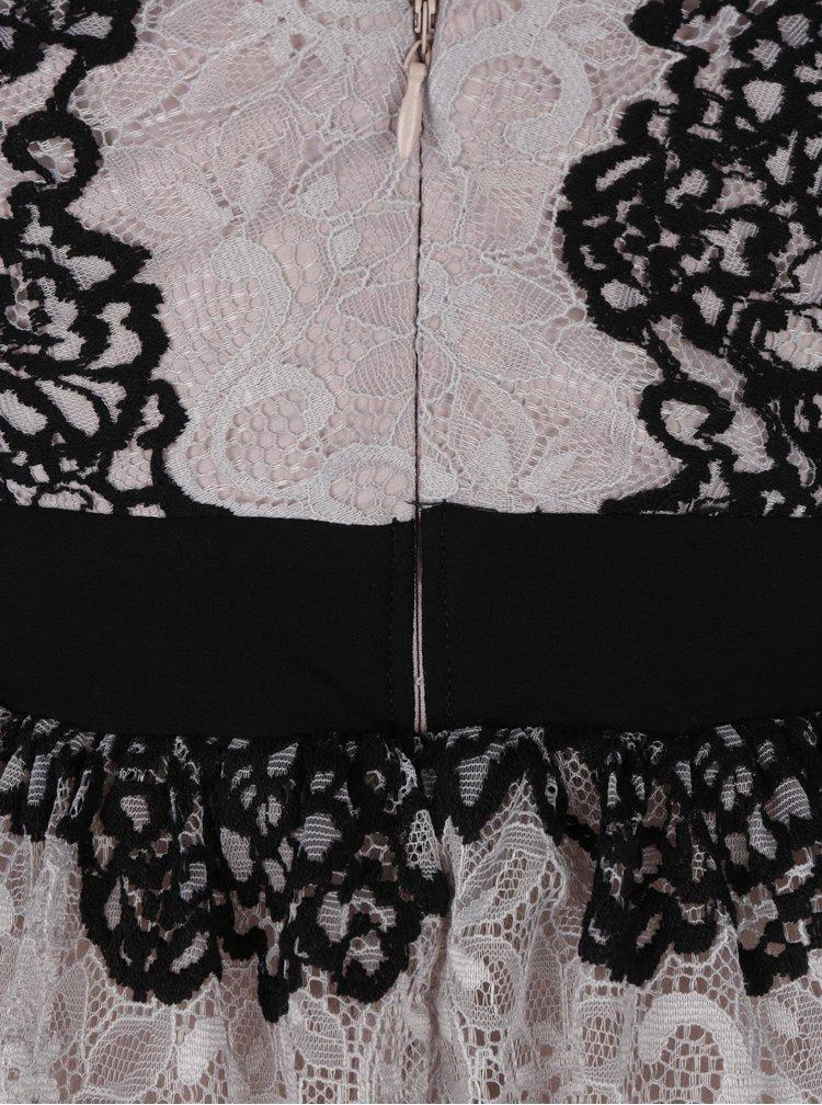 Béžové krajkové šaty Little Mistress