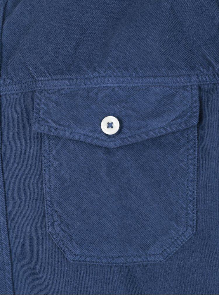 Camasa regular fit albastru inchis din material raiat O'Neill