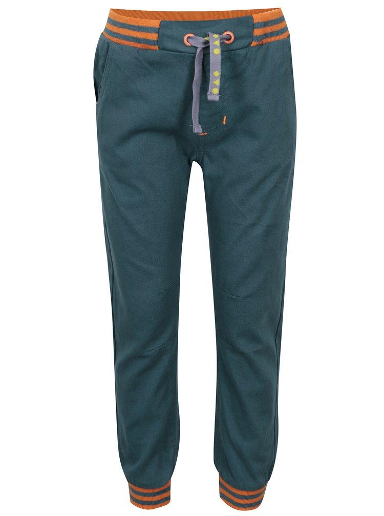 Oranžovo-modré klučičí kalhoty s pružným pasem 5.10.15.