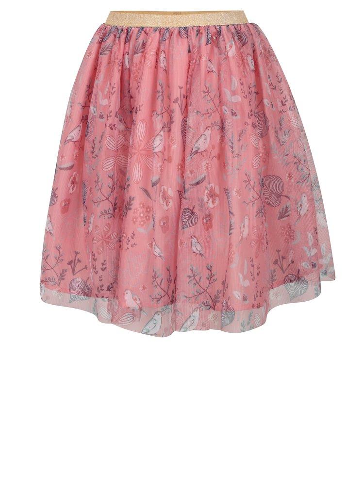 Růžová holčičí vzorovaná tylová sukně 5.10.15.