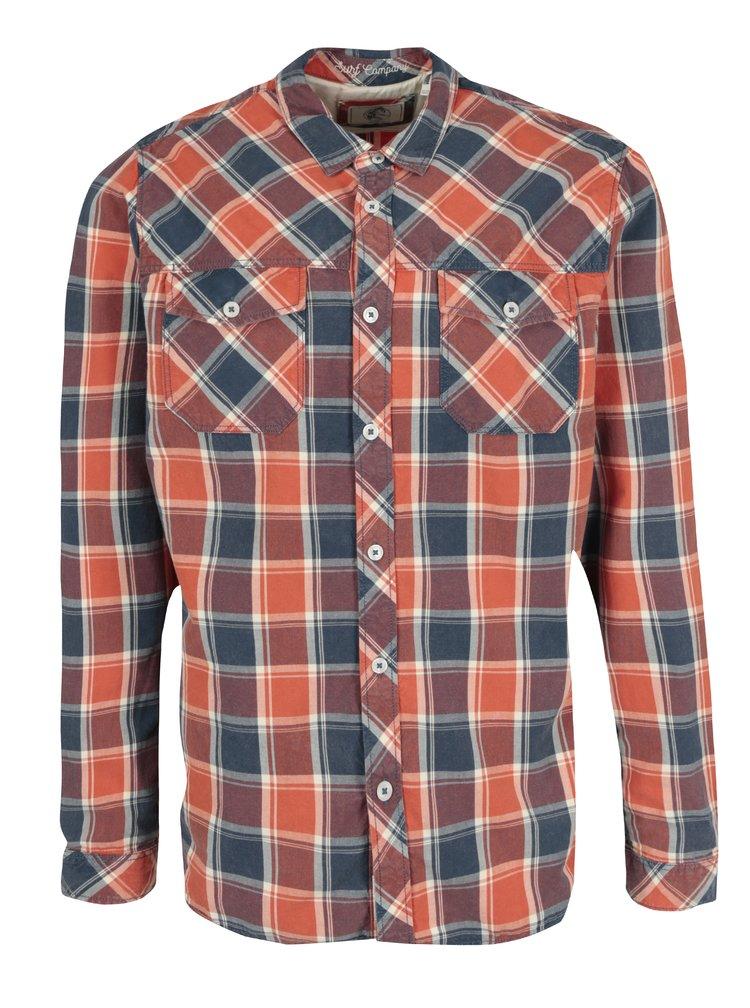Modro-červená pánská kostkovaná regular fit košile O'Neill