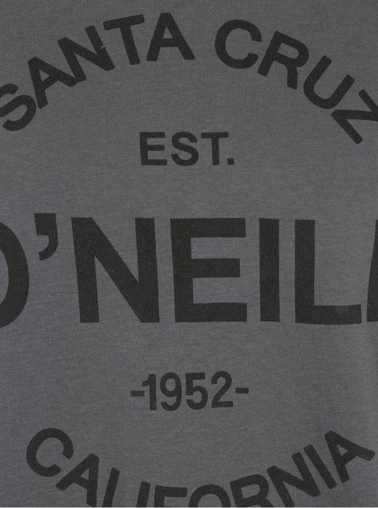 Šedé pánské regular fit tričko s potiskem O'Neill