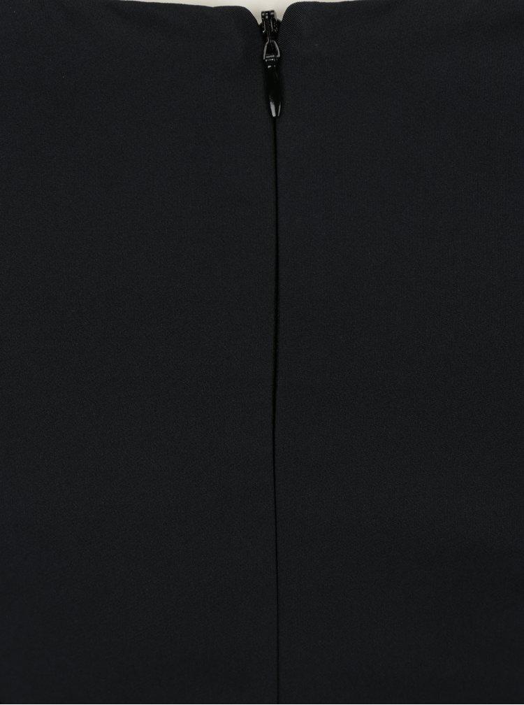 Černé pouzdrové šaty s tvarovaným výstřihem Little Mistress