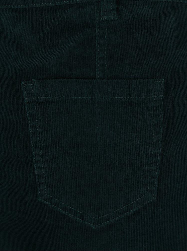 Tmavě zelená manšestrová sukně M&Co