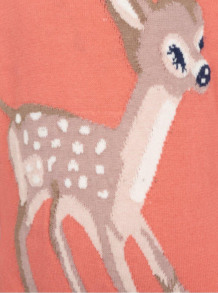 Růžový holčičí dlouhý vzorovaný svetr 5.10.15.