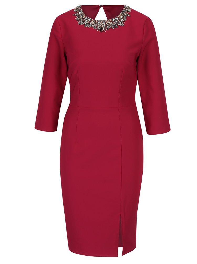 Růžové šaty s 3/4 rukávem Little Mistress