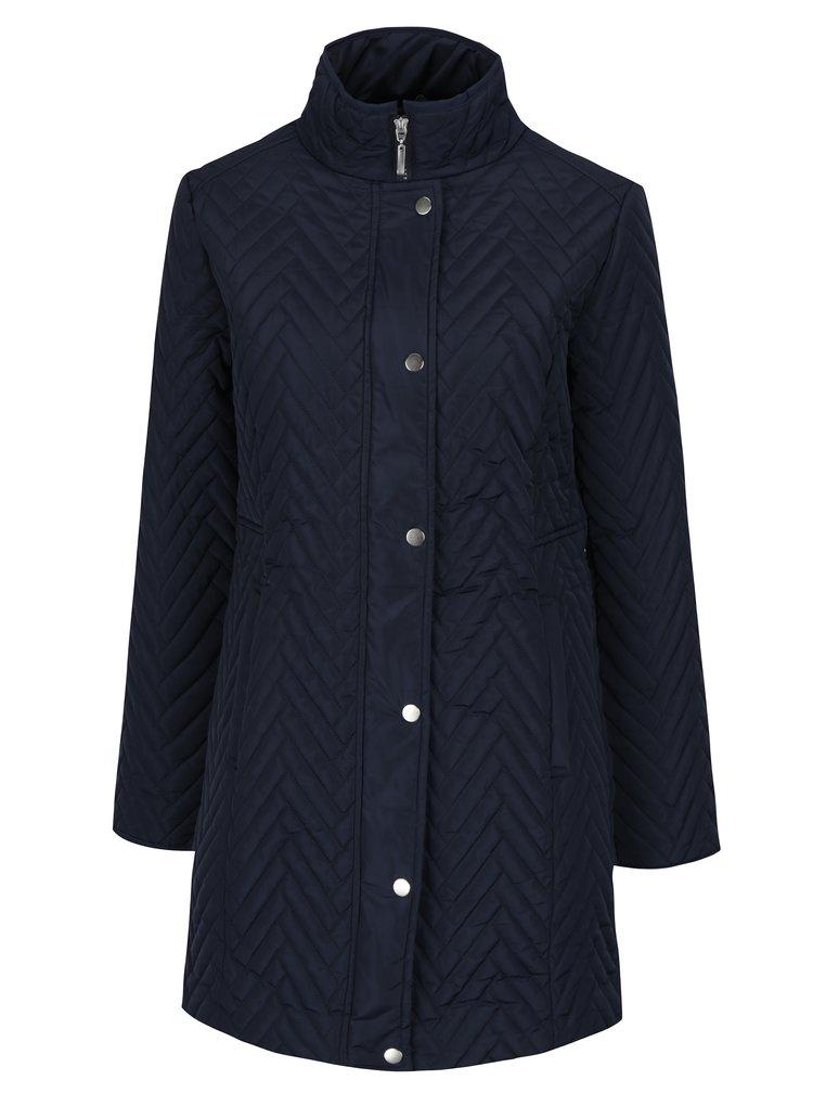 Tmavě modrý dámský prošívaný kabát M&Co