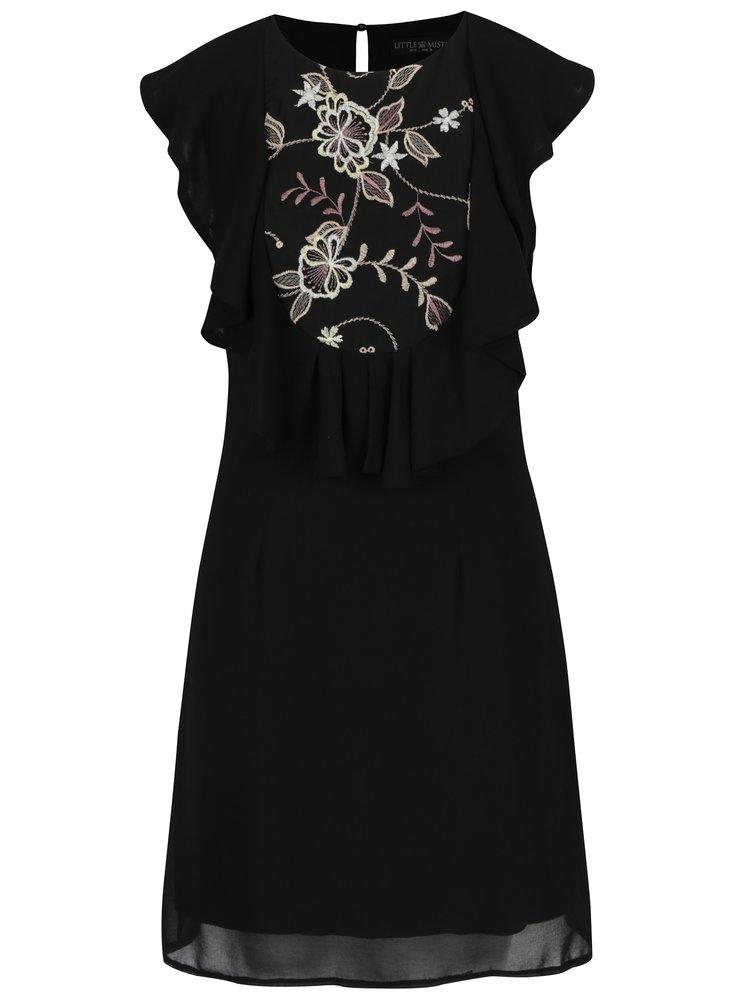 Černé šaty s krajkovými detaily Little Mistress