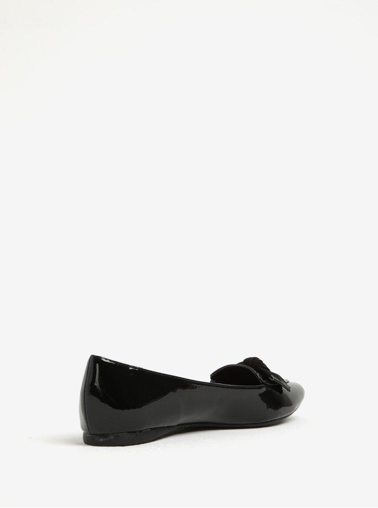 Černé lesklé baleríny Dorothy Perkins