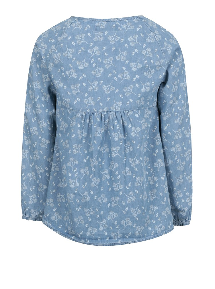 Modrá holčičí vzorovaná halenka 5.10.15.