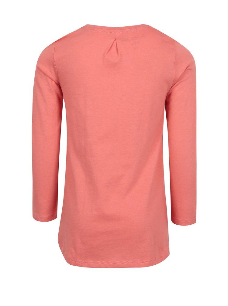 Růžové holčičí tričko s výšivkou 5.10.15.
