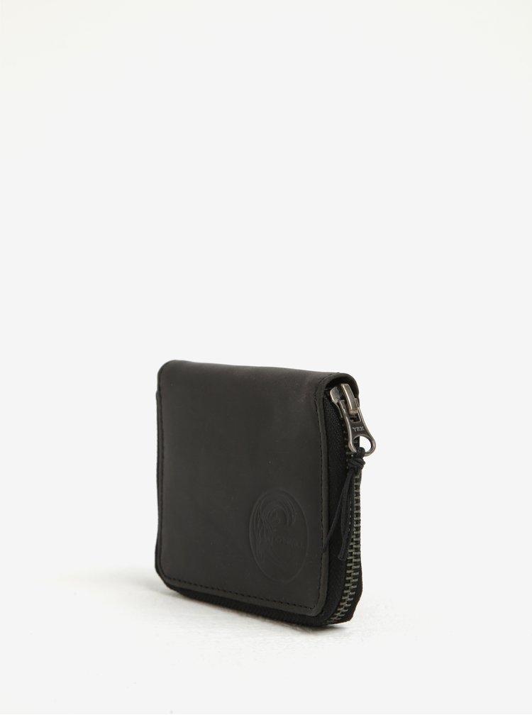 Černá pánská kožená peněženka O'Neill