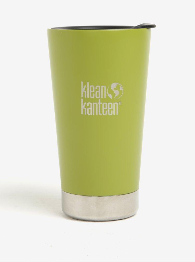 Zelený nerezový termohrnek Klean Kanteen Insulated Tumbler