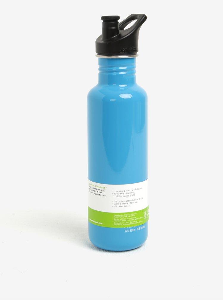 Světle modrá nerezová lahev Klean Kanteen Classic 800 ml