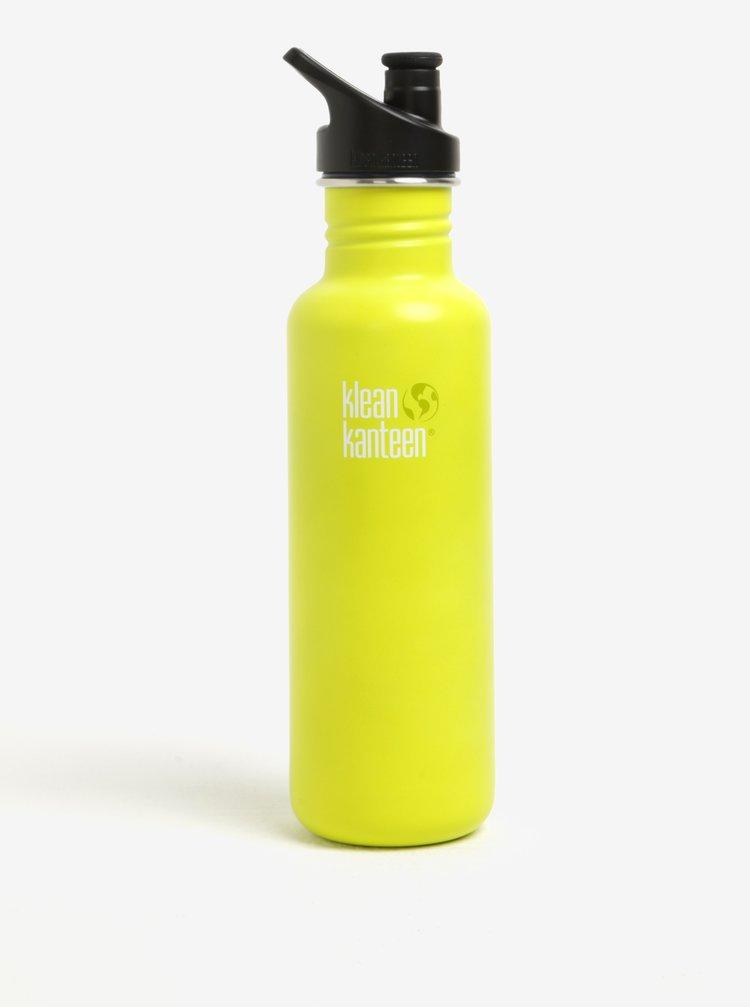 Žlutá nerezová lahev Klean Kanteen Classic 800 ml