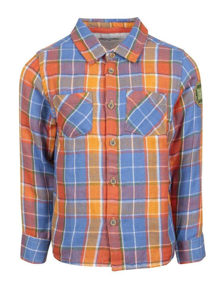 Modro-oranžová klučičí kostkovaná košile 5.10.15.
