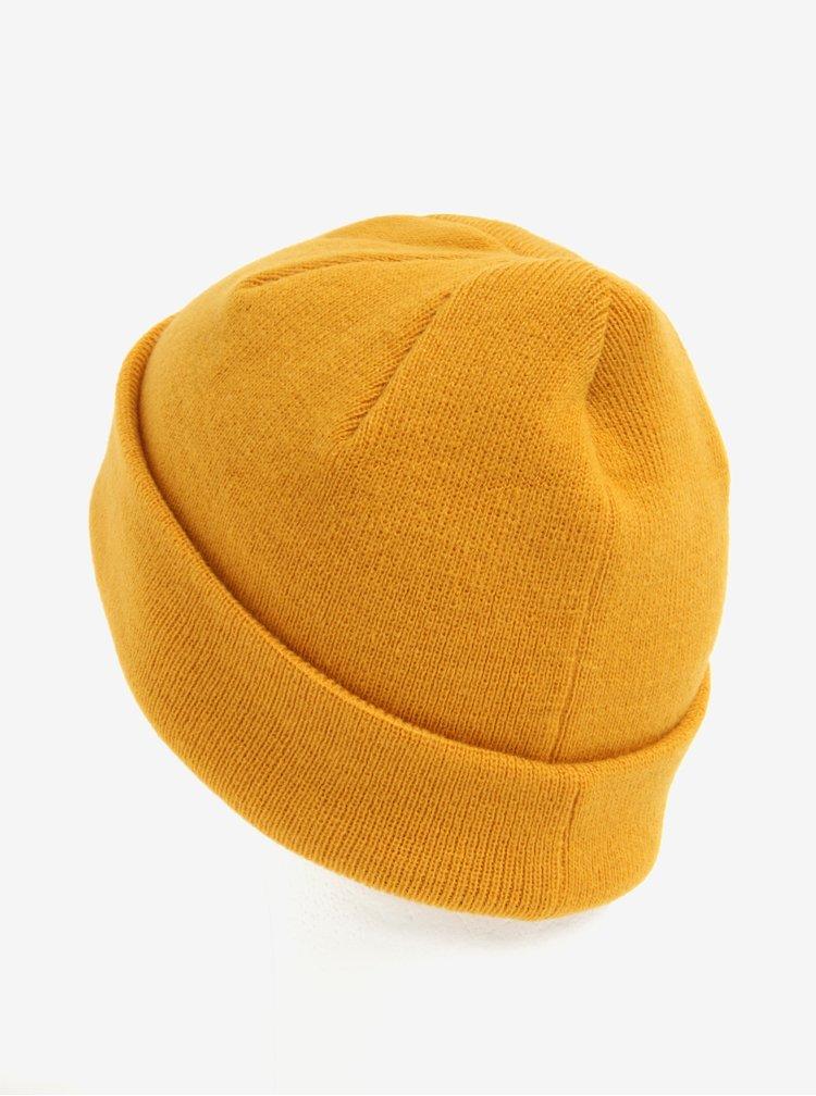 Caciula galben mustar cu logo adidas Originals Joe Beanie