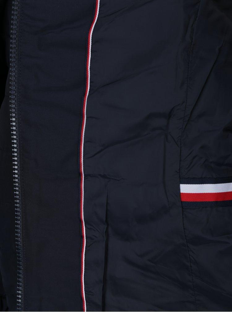 Tmavě modrá voděodpudivá péřová bunda Tommy Hilfiger Cress Down