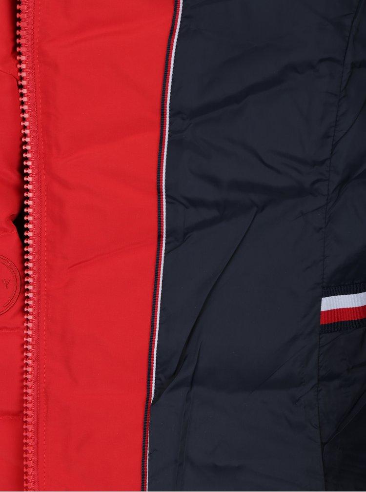 Červená dámská voděodpudivá péřová bunda Tommy Hilfiger Cress Down