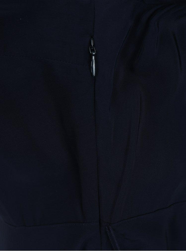 Tmavě modré košilové šaty s 3/4 rukávem Tommy Hilfiger