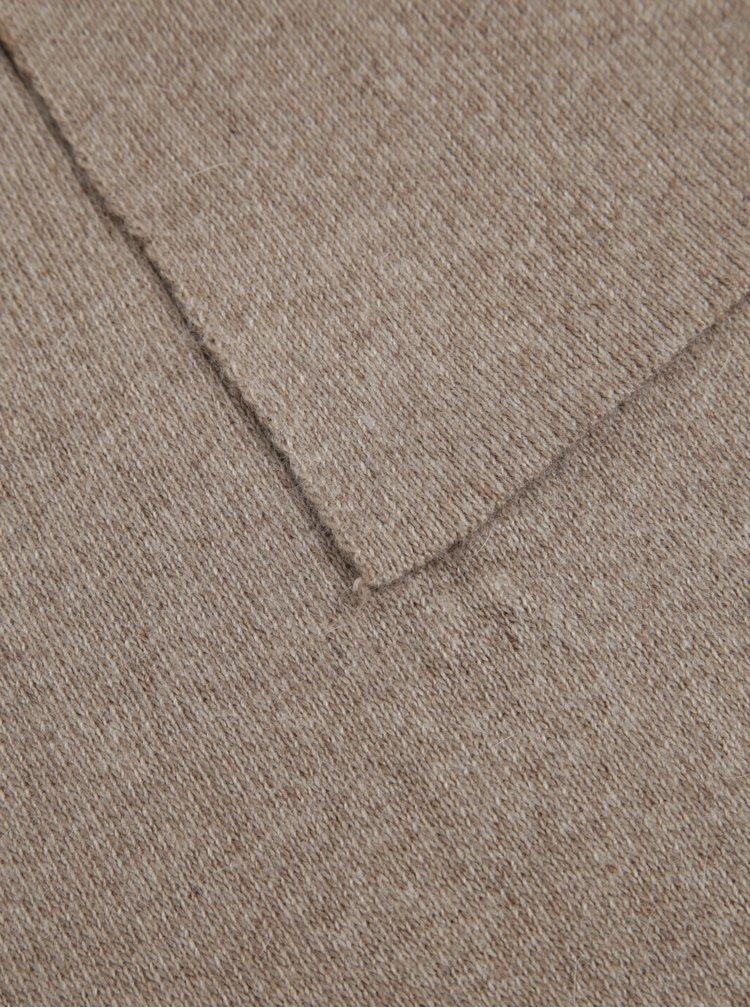 Set maro fular plus caciula cu adaos de lana - KARA