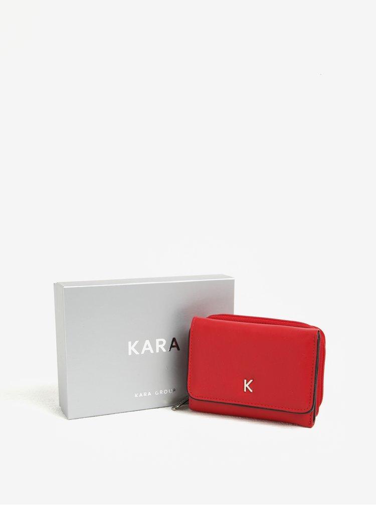 Portofel rosu din piele naturala pentru femei - KARA
