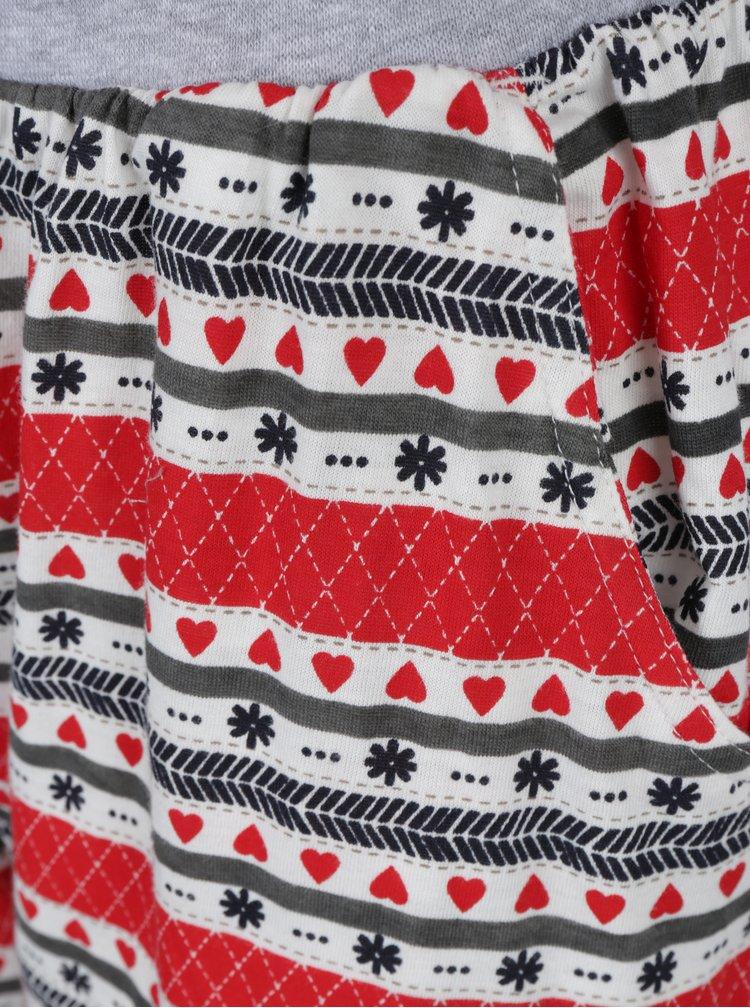 Červeno-šedé pyžamo s nášivkou lamy Dorothy Perkins