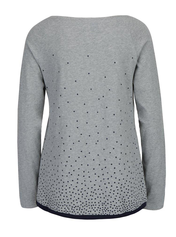 Šedé dámské volné puntíkované tričko Ragwear Tilda Organic