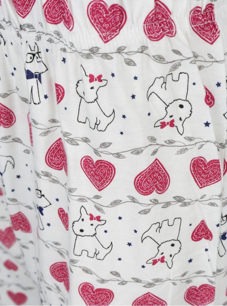 Krémovo-šedé pyžamo s potiskem psů Dorothy Perkins