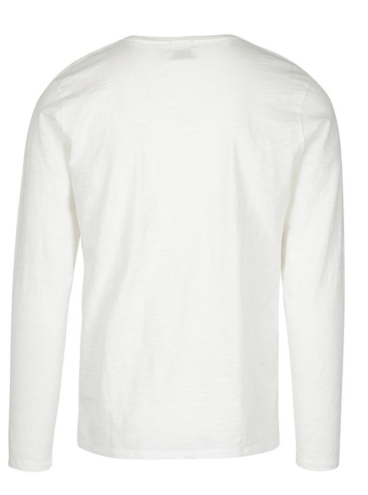 Bluza crem cu print logo  Pepe Jeans FLAG TEE