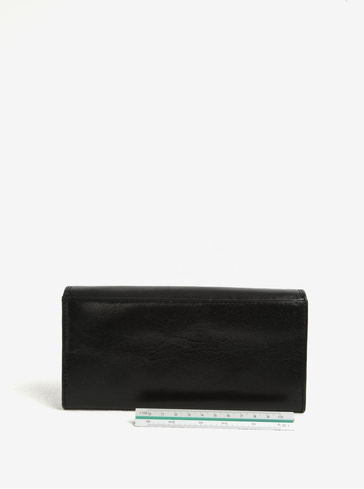 Černá dámská velká kožená peněženka KARA