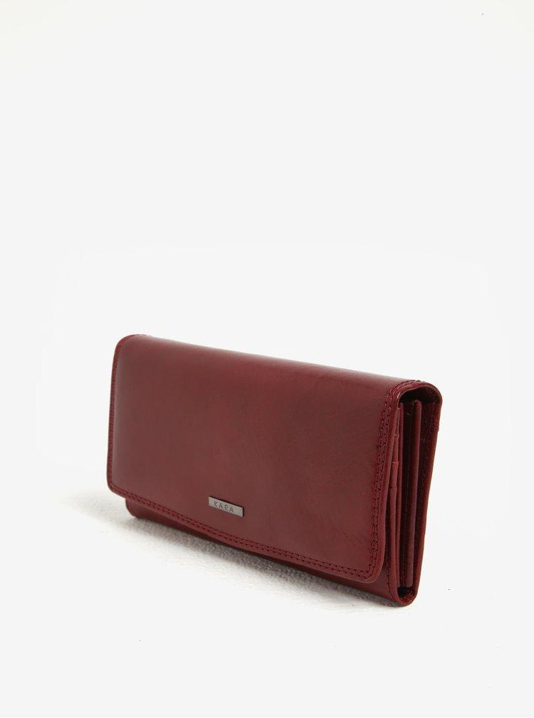 Červená dámská kožená peněženka KARA
