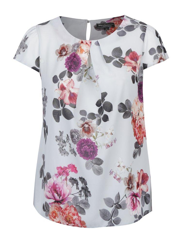 Světle šedá květovaná halenka Billie & Blossom