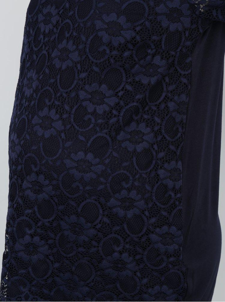 Tmavě modré těhotenské krajkové tričko Dorothy Perkins Maternity