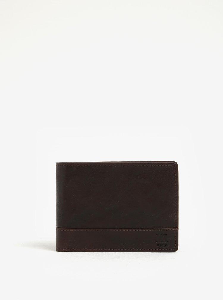 Hnědá pánská kožená peněženka KARA