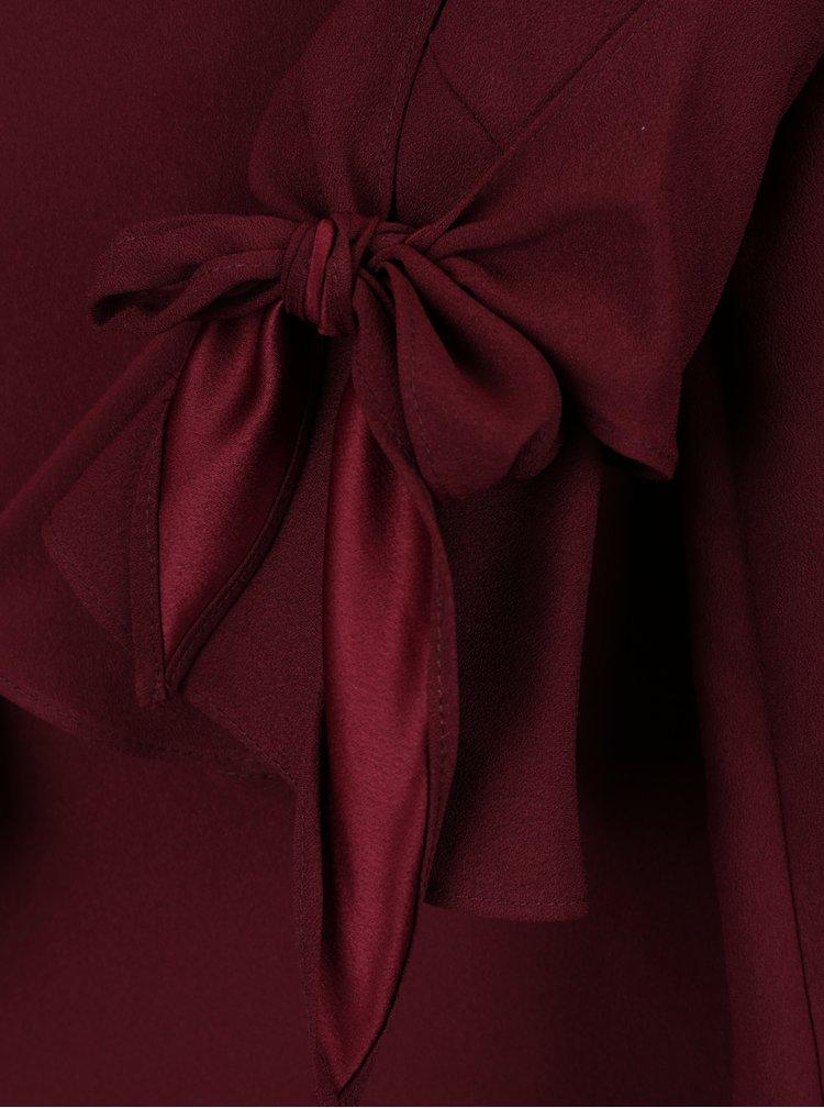 Vínová halenka se zvonovými rukávy Dorothy Perkins