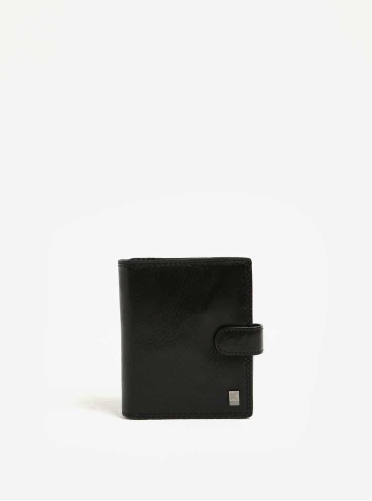 Černá pánská kožená peněženka KARA