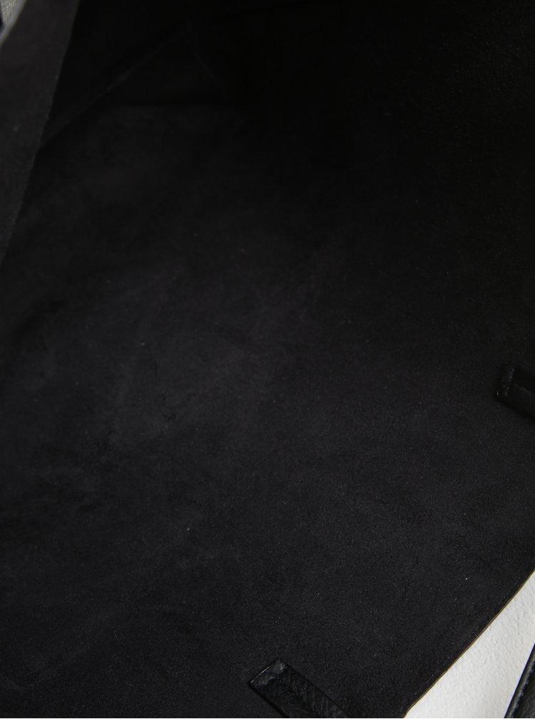 Geanta shopper neagra cu aspect de piele - Dorothy Perkins