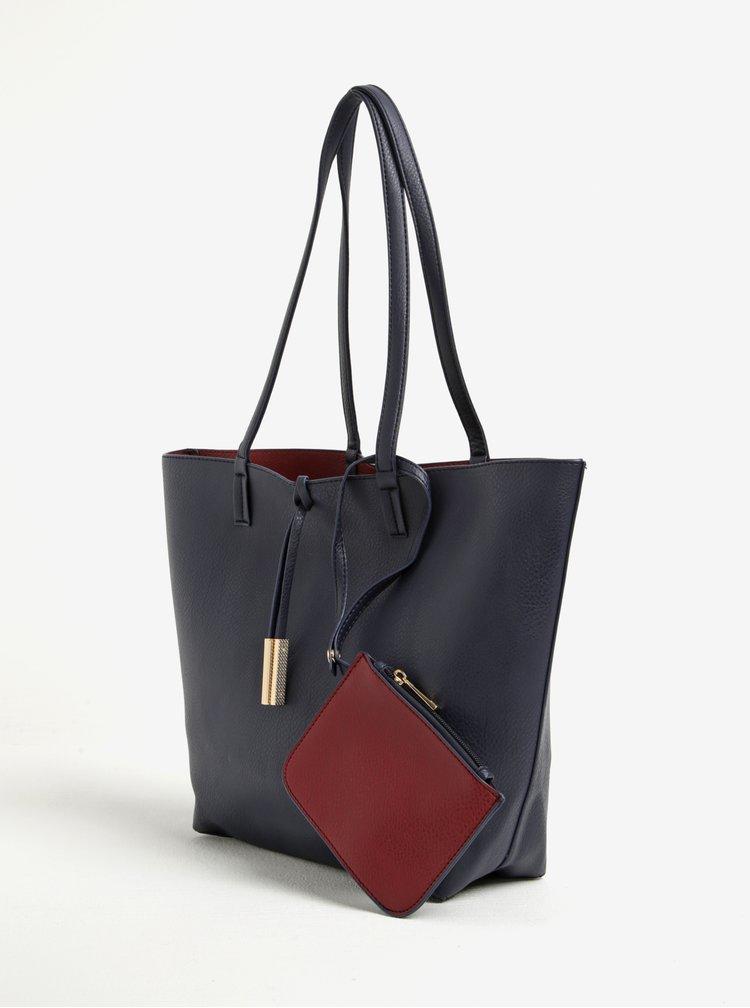 Geanta shopper bleumarin cu portmoneu detasabil -  Dorothy Perkins