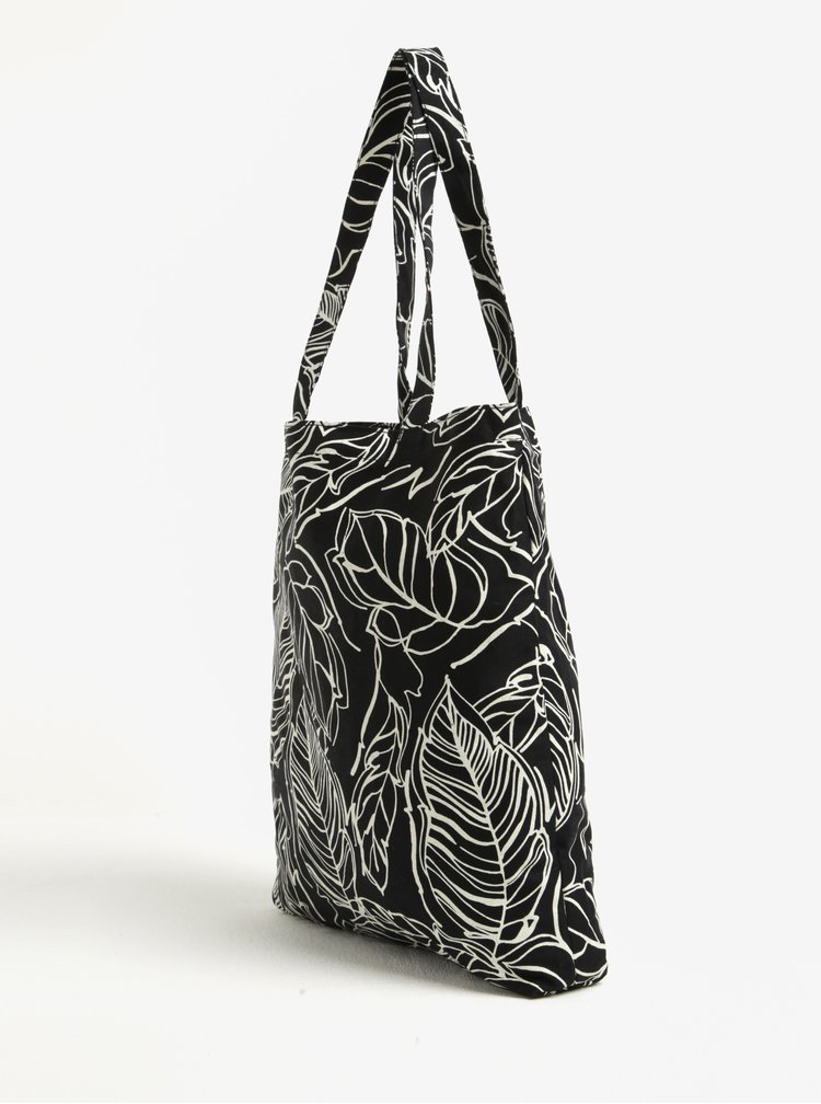 Geanta neagra tip sacosa cu print - Dorothy Perkins